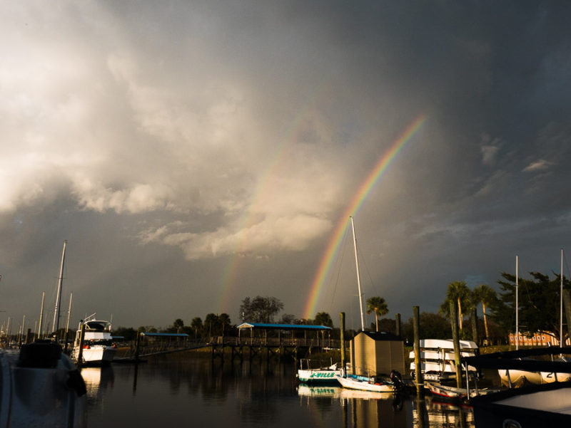 Double rainbow after the storms!